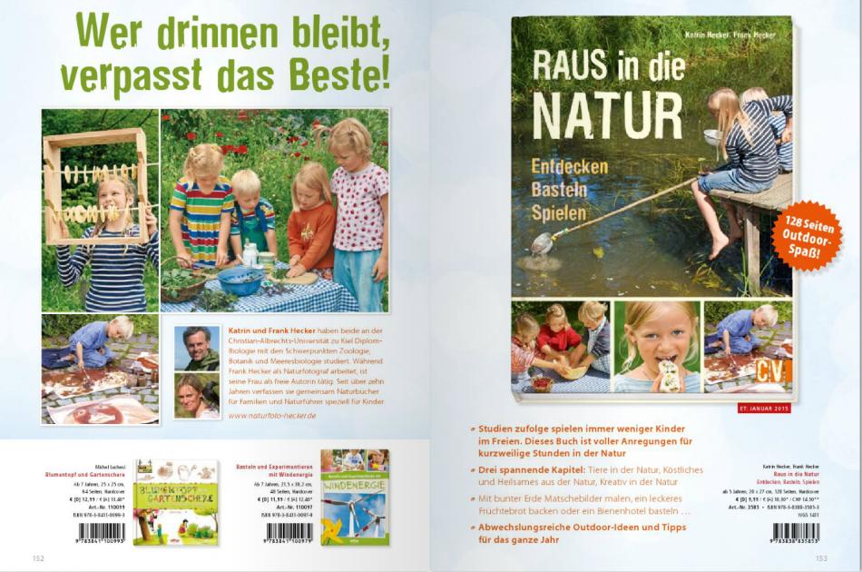 Raus in die Natur - Verlagswerbung